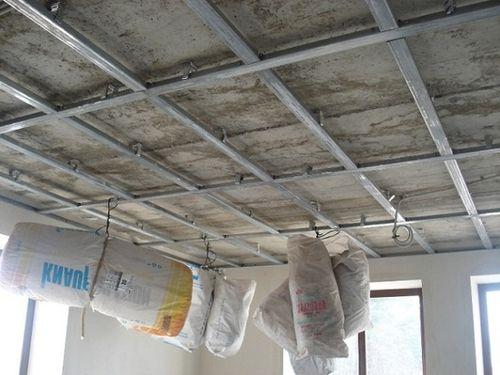 Обрешетка потолка