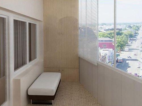 Вариант отделки балкона пластиковыми панелями
