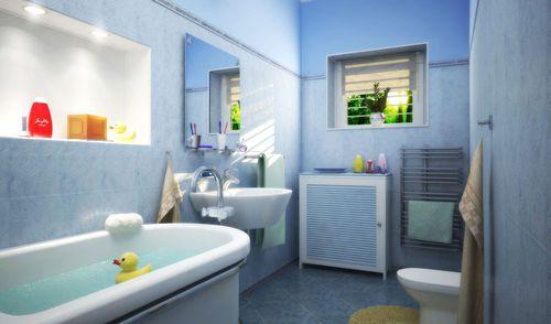 МДФ панели на ванной