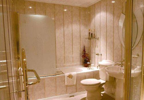Отделка туалета пластиковые панелями