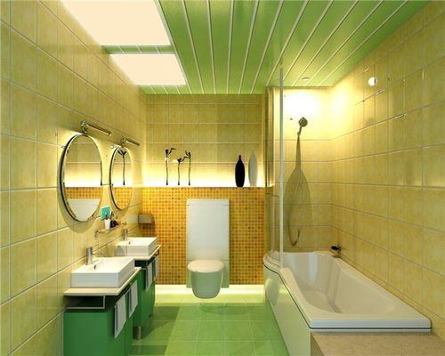 Дизайн ванной зеленого цвета