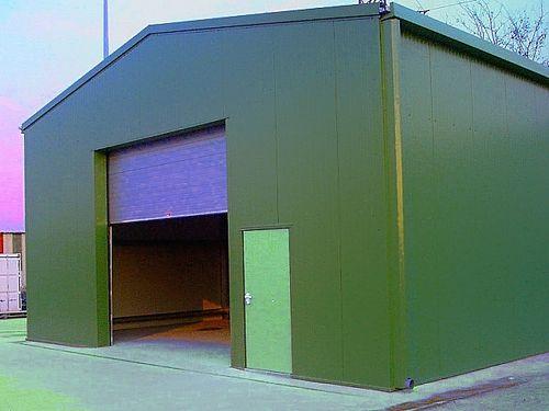 Как построить гараж из сэндвич панелей