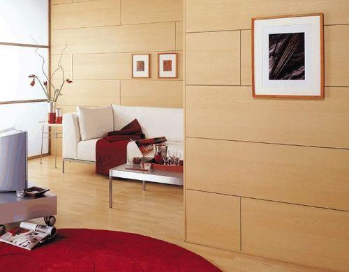 Листовые панели в гостинной